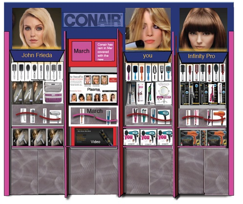 Nationwide, Conair, JC Penny Concept shop, Department Store, Department Concept, Department Store Display