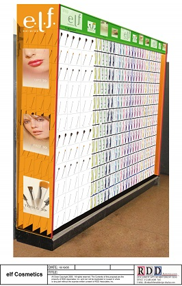 New York, NY, E.L.F., Cheap Jacks, Vendor display, Cosmetic Display, Cosmetic Shop