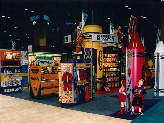 Easton PA, Crayola, Crayola license dept, brand store, vendor display, concept shop, global shop